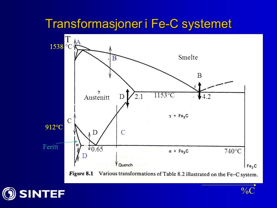 Transformasjoner i Fe-C systemet