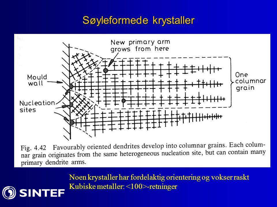 Søyleformede krystaller