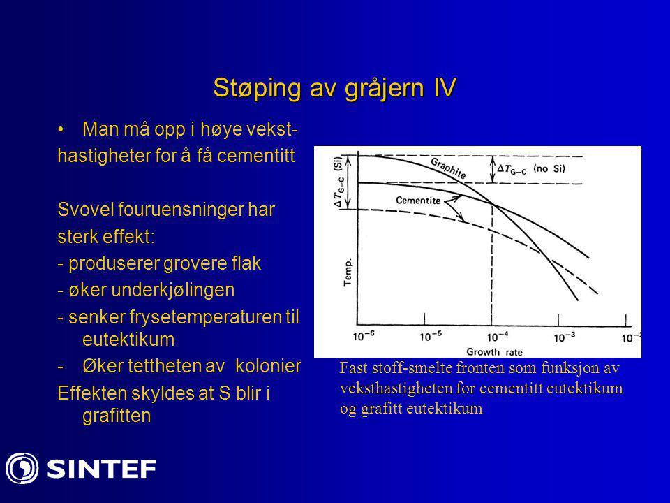 Støping av gråjern IV Man må opp i høye vekst-