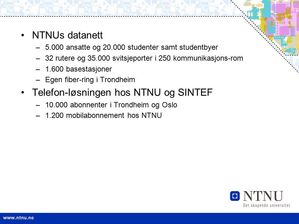 Telefon-løsningen hos NTNU og SINTEF
