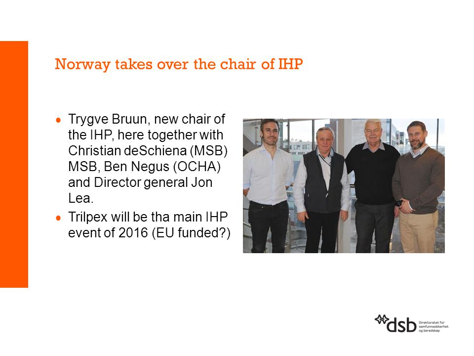 Norway takes over the chair of IHP