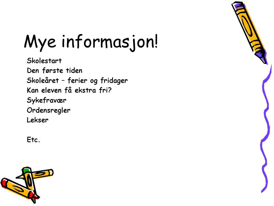 Mye informasjon.