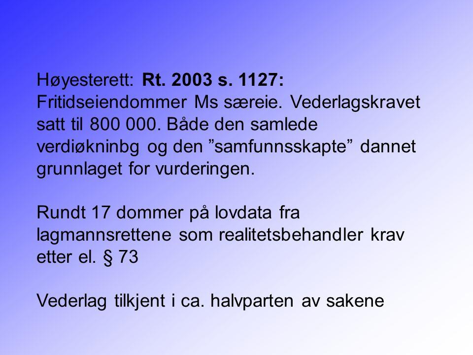 Høyesterett: Rt. 2003 s. 1127: Fritidseiendommer Ms særeie