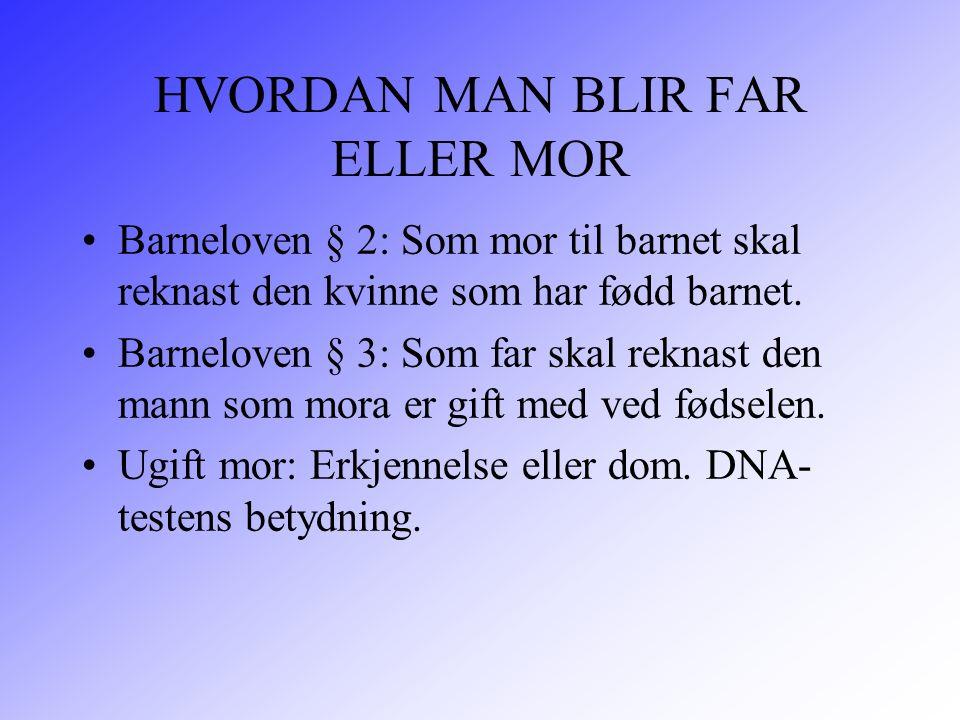 HVORDAN MAN BLIR FAR ELLER MOR