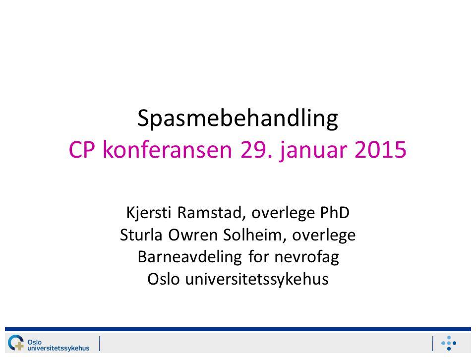 Spasmebehandling CP konferansen 29. januar 2015