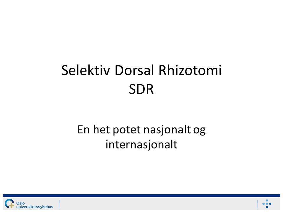 Selektiv Dorsal Rhizotomi SDR