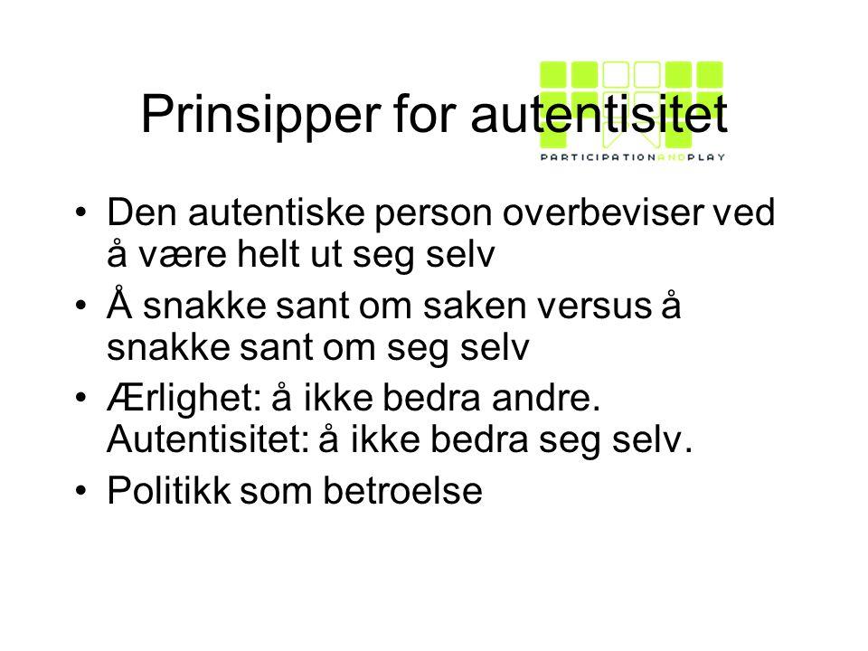 Prinsipper for autentisitet