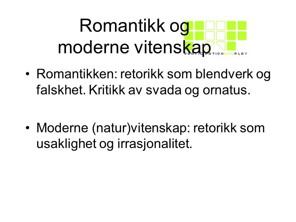 Romantikk og moderne vitenskap
