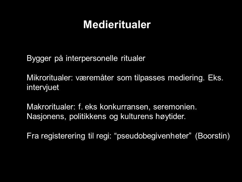 Medieritualer Bygger på interpersonelle ritualer