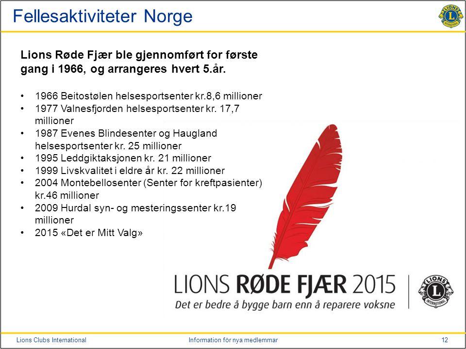 Fellesaktiviteter Norge