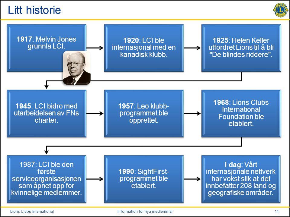 Litt historie 1917: Melvin Jones grunnla LCI.