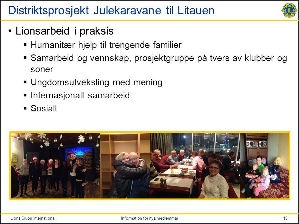 Distriktsprosjekt Julekaravane til Litauen