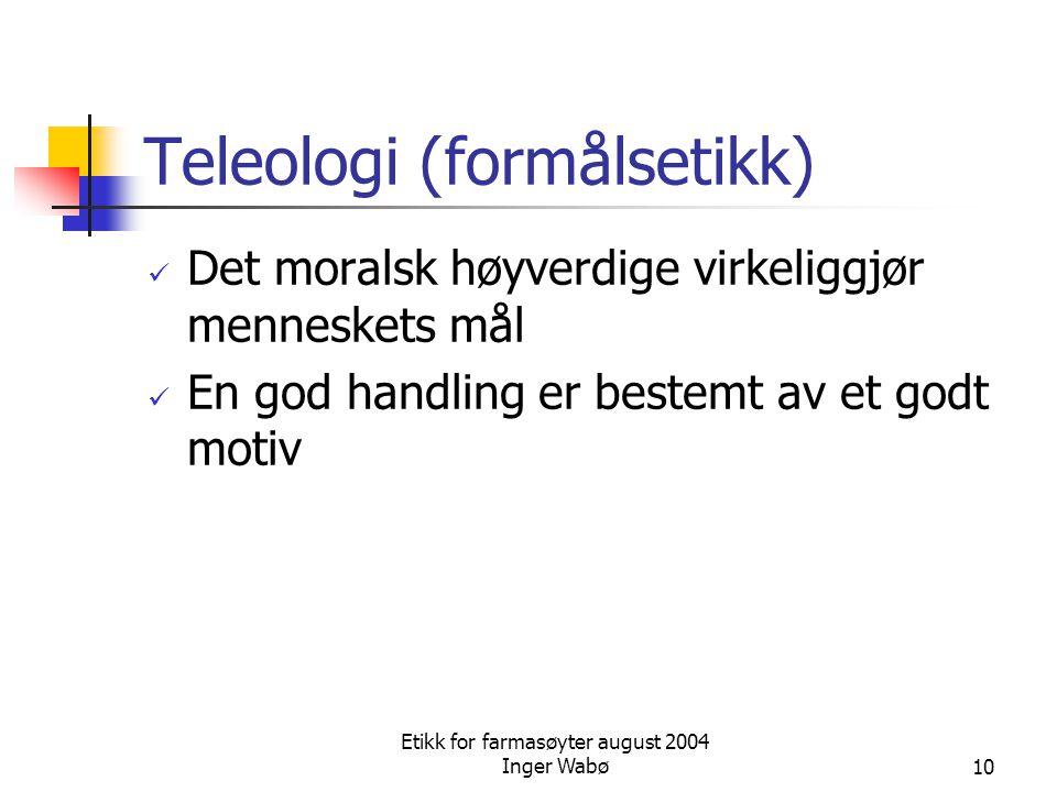 Teleologi (formålsetikk)