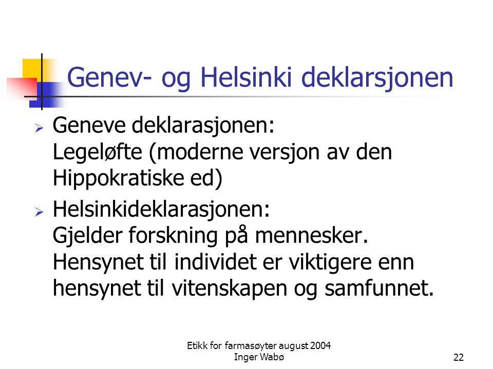 Genev- og Helsinki deklarsjonen