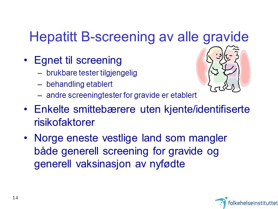 Hepatitt B-screening av alle gravide