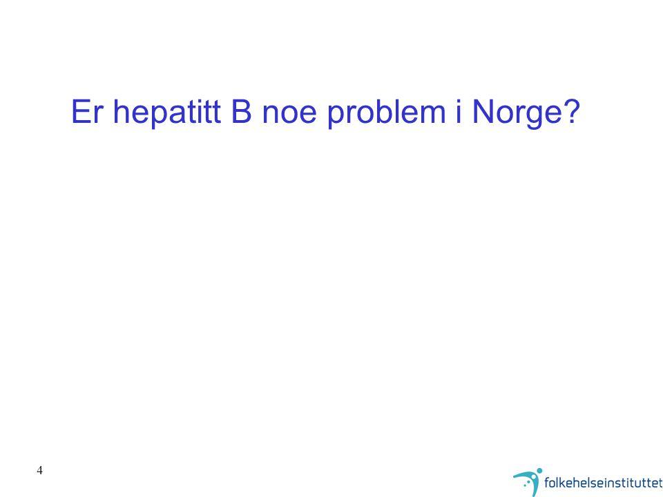 Er hepatitt B noe problem i Norge