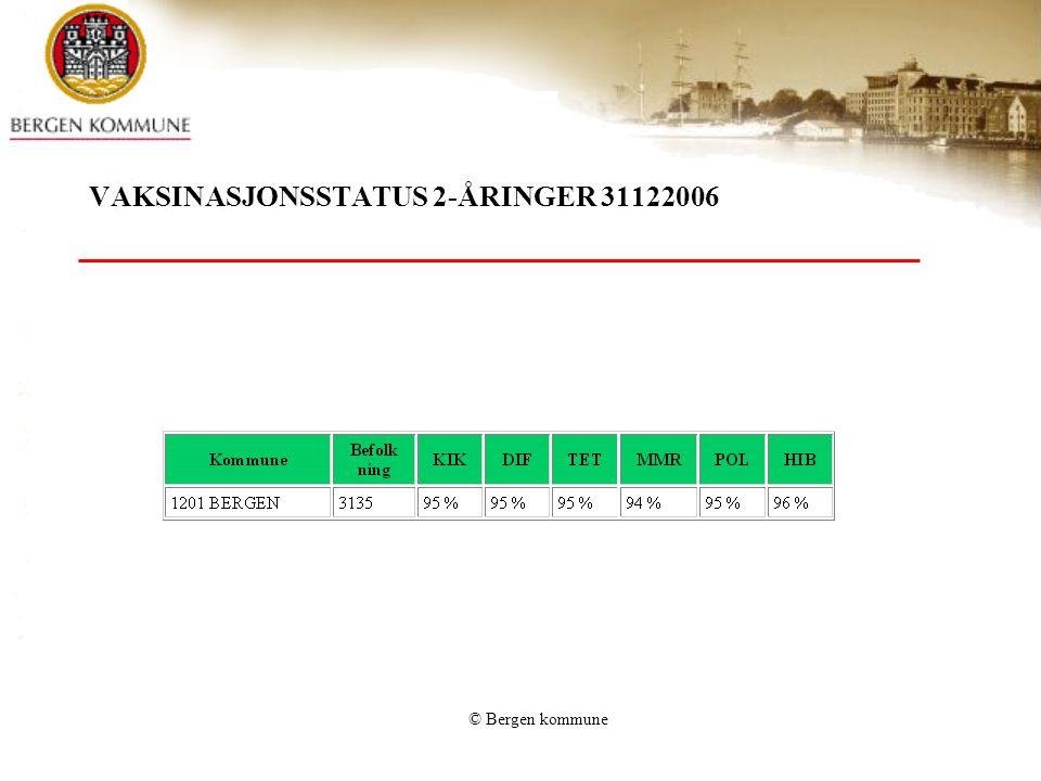 VAKSINASJONSSTATUS 2-ÅRINGER 31122006