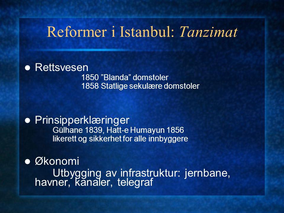Reformer i Istanbul: Tanzimat
