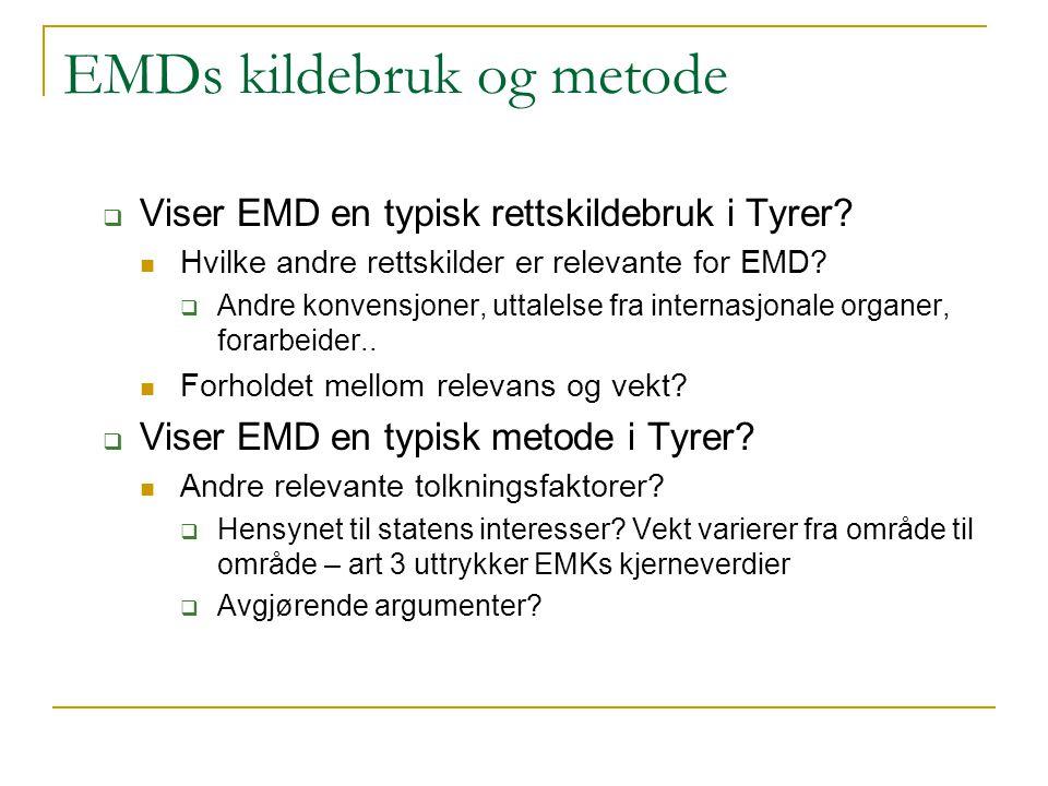 EMDs kildebruk og metode