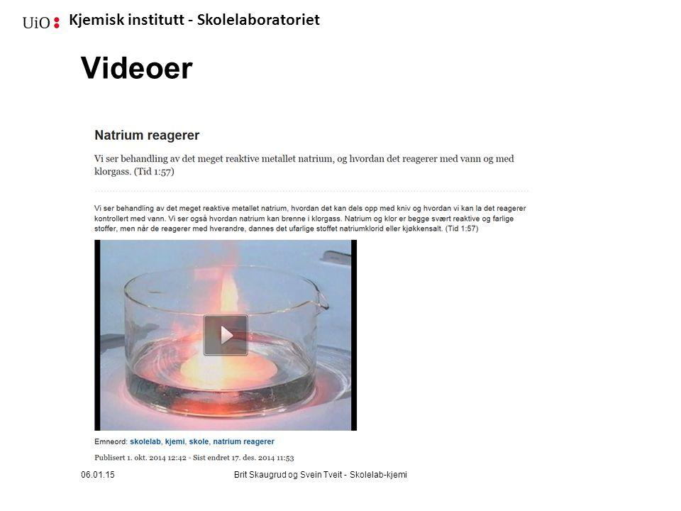 Videoer 06.01.15 Brit Skaugrud og Svein Tveit - Skolelab-kjemi