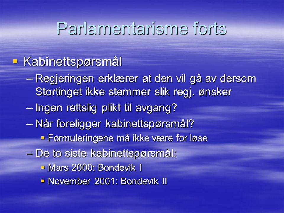 Parlamentarisme forts
