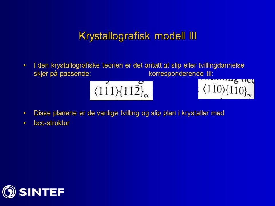 Krystallografisk modell III