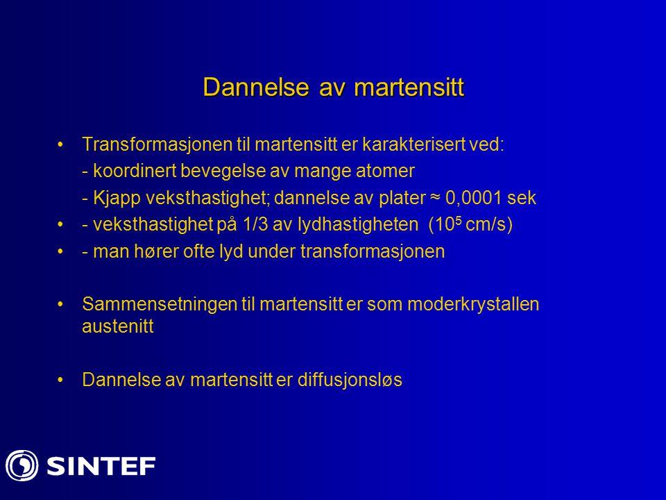 Dannelse av martensitt