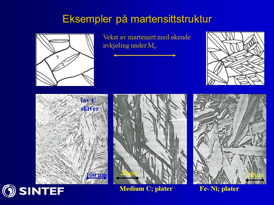 Eksempler på martensittstruktur