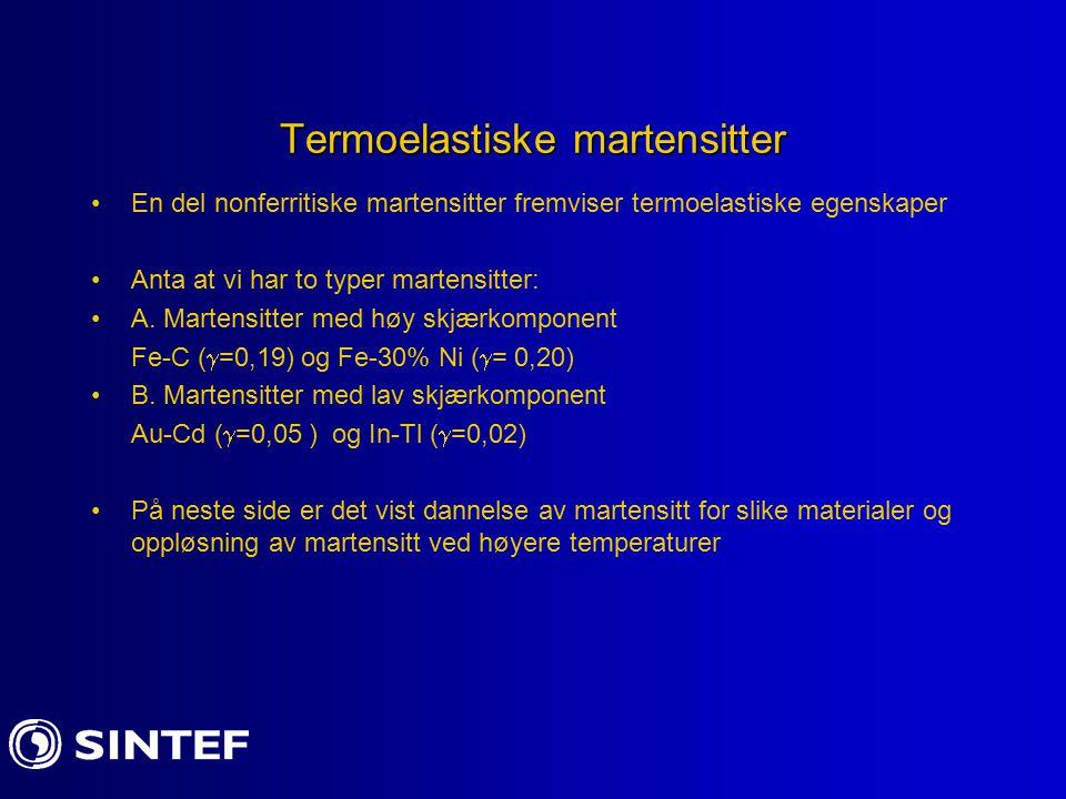 Termoelastiske martensitter