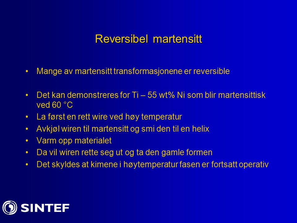 Reversibel martensitt