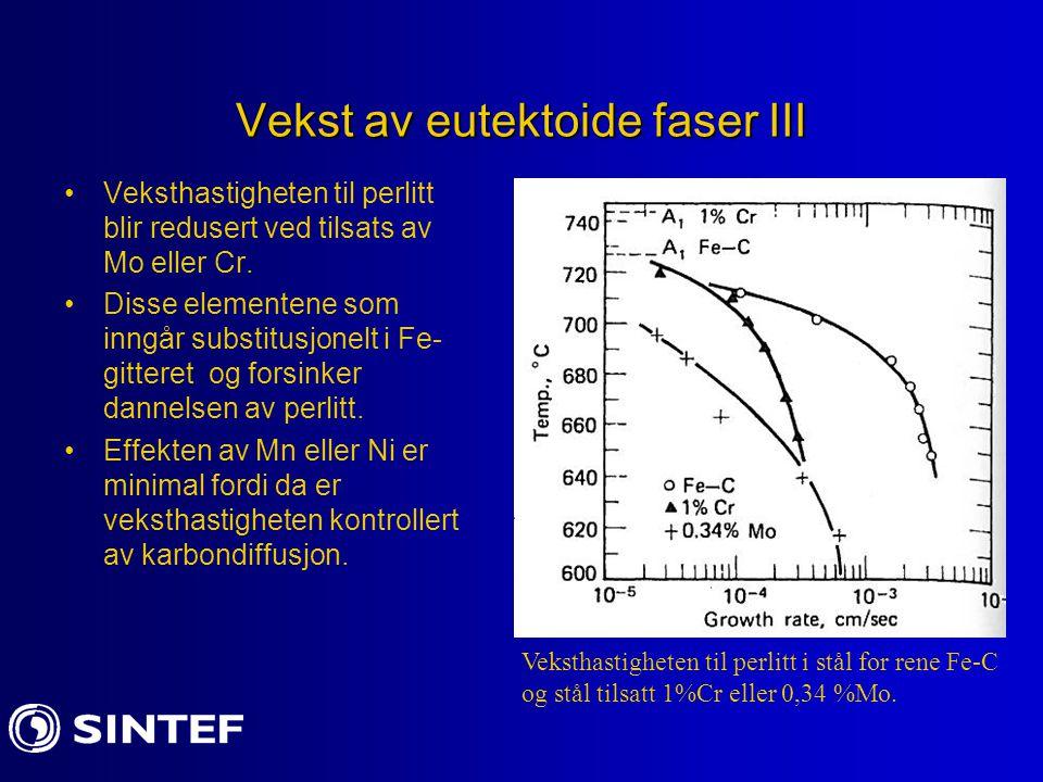 Vekst av eutektoide faser III