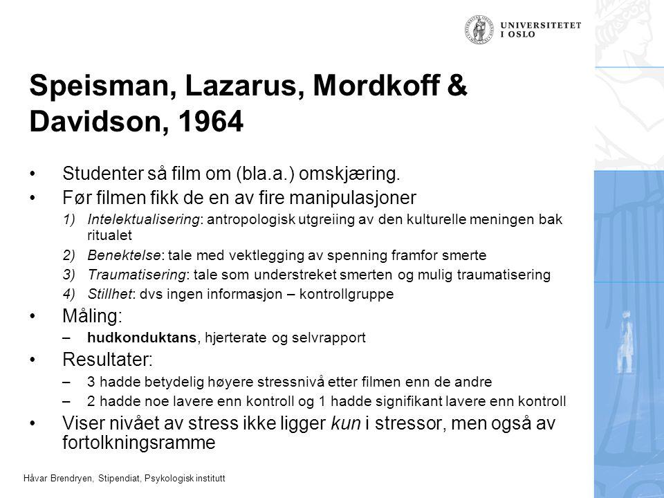 Speisman, Lazarus, Mordkoff & Davidson, 1964