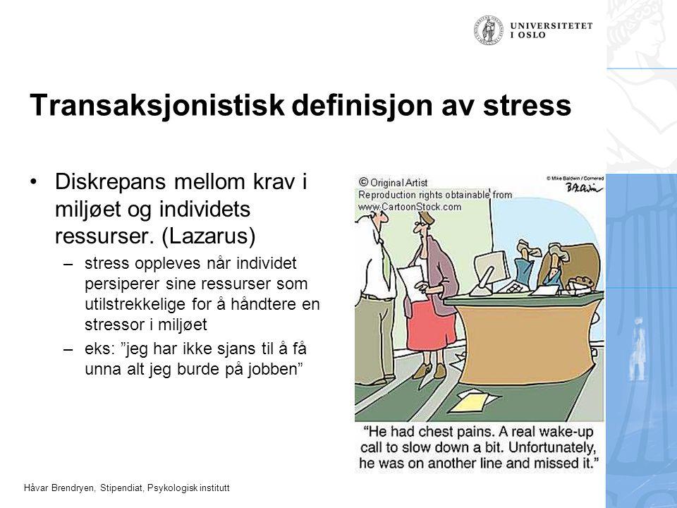 Transaksjonistisk definisjon av stress