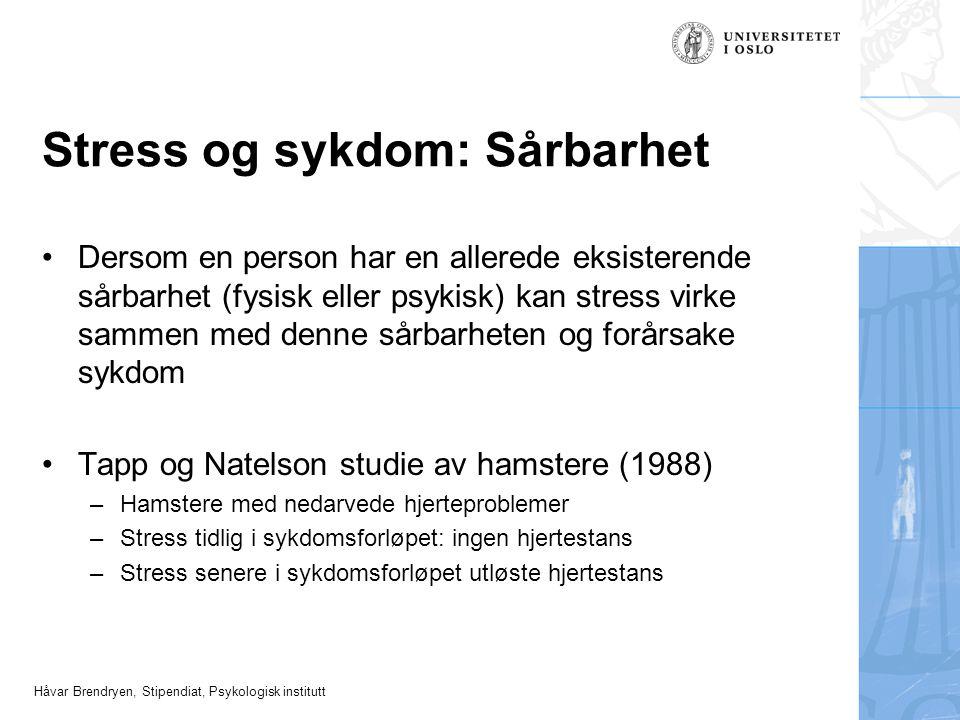 Stress og sykdom: Sårbarhet