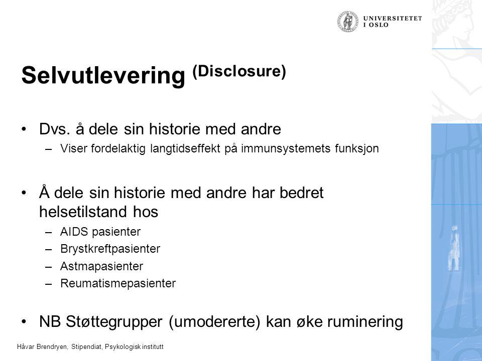 Selvutlevering (Disclosure)