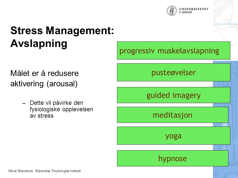 Stress Management: Avslapning
