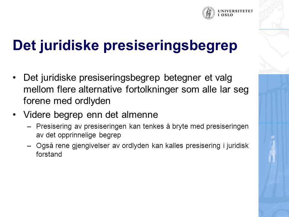 Det juridiske presiseringsbegrep