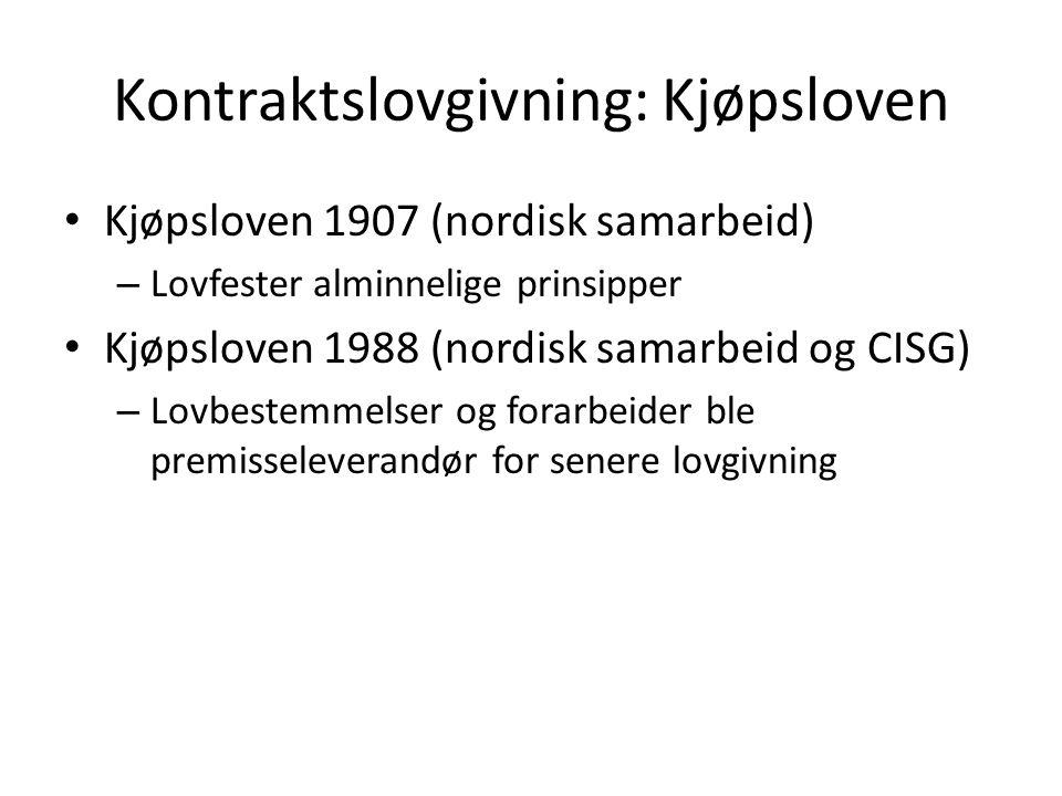 Kontraktslovgivning: Kjøpsloven