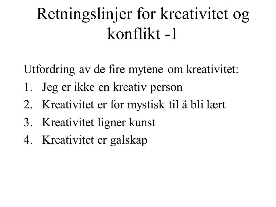 Retningslinjer for kreativitet og konflikt -1