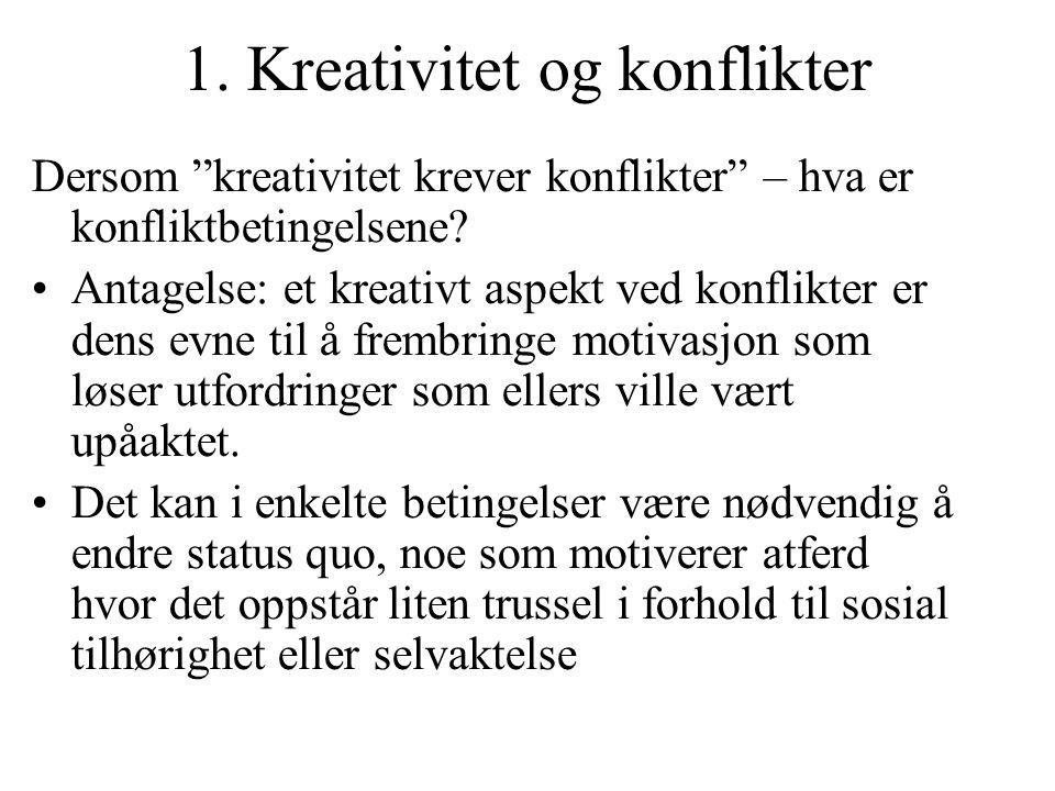1. Kreativitet og konflikter