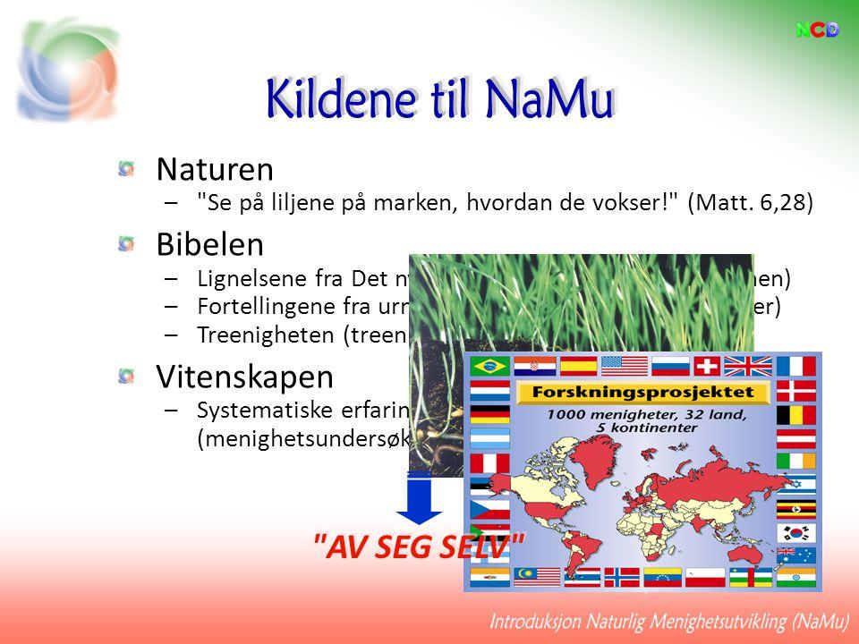 Introduksjon Naturlig Menighetsutvikling (NaMu)
