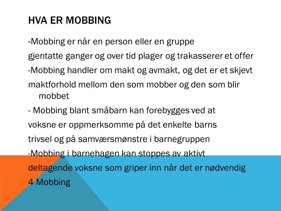 Hva er mobbing