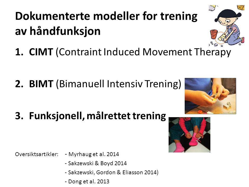 Dokumenterte modeller for trening av håndfunksjon