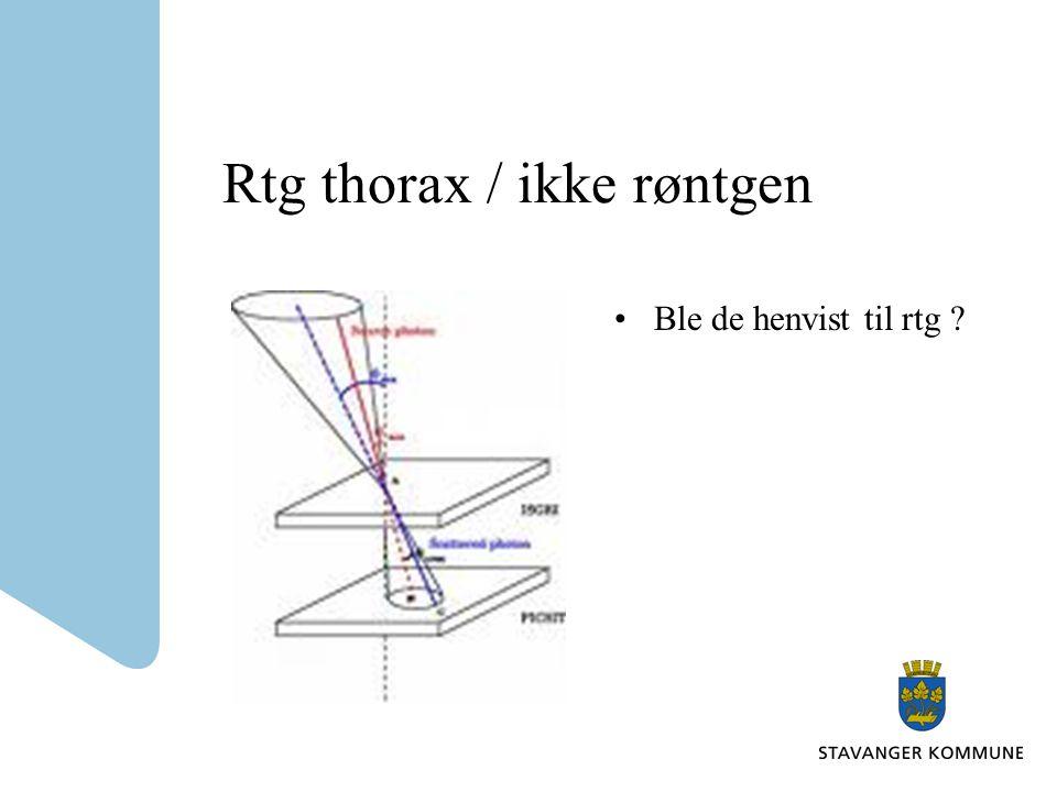 Rtg thorax / ikke røntgen