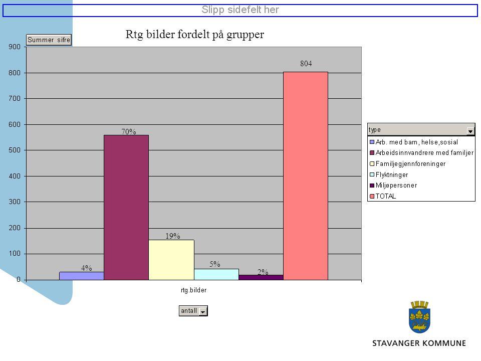 Rtg bilder fordelt på grupper