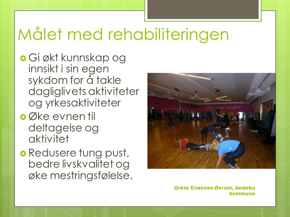 Målet med rehabiliteringen