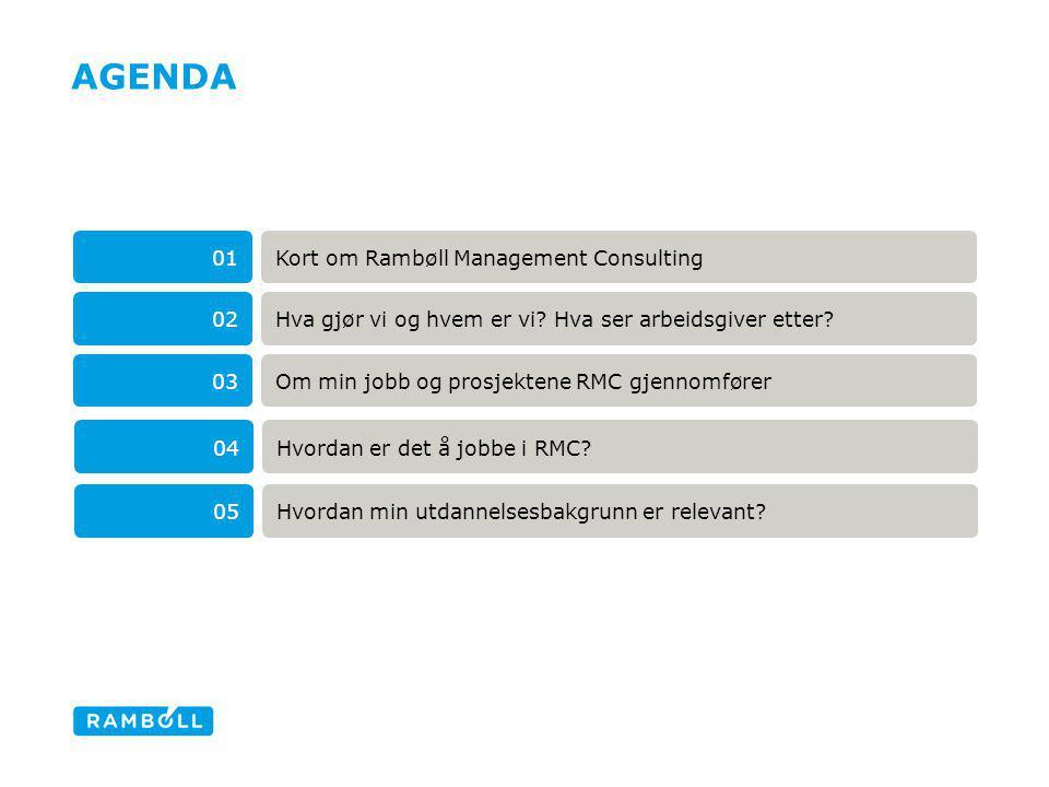 AGENDA Kort om Rambøll Management Consulting 01