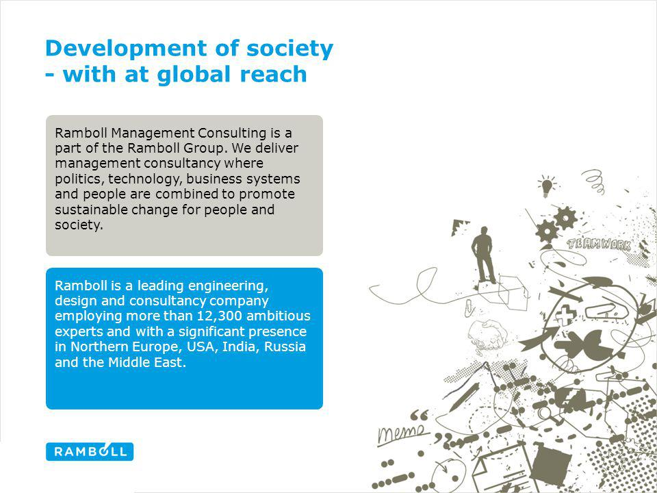 Development of society - with at global reach