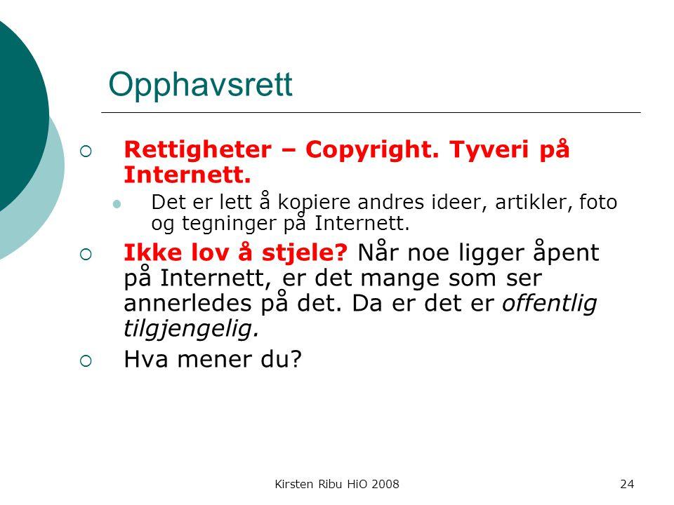 Opphavsrett Rettigheter – Copyright. Tyveri på Internett.