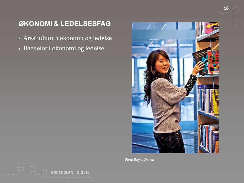Økonomi & ledelsesfag Årsstudium i økonomi og ledelse